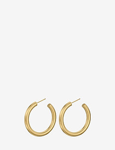 Alpha Hoops Size 40 mm - GOLD PLATED