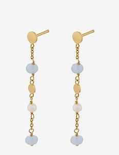Afterglow Sea Earchains 40 mm - boucles d'oreilles pendantes - gold plated