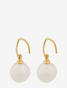 Lagoon Earhooks  22 mm Baroque Pearl - pendant - gold plated