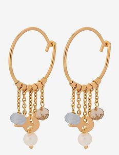 Dream Hoops Size 18 mm - korvarenkaat - gold plated