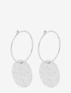 New Moon Earrings 30 mm - SILVER