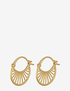 Small Daylight Earrings - 16mm - pendant earrings - gold plated
