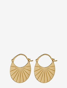 Copenhagen  Earrings 22 mm - creoler - gold plated