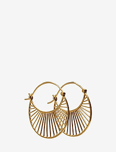 Large Daylight  Earrings 30 mm - pendant - gold plated