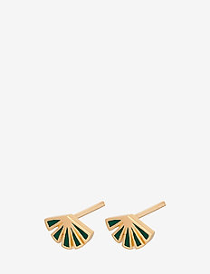 Flare Green Earsticks Size 8 mm - GOLD PLATED