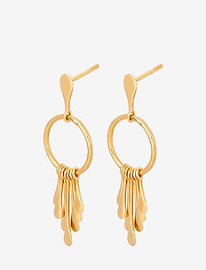 Waterfall Earsticks Size 40 mm - GOLD PLATED