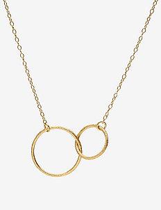 Double Plain Necklace 45 cm - GOLD PLATED