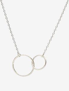 Double Plain Necklace 45 cm - SILVER