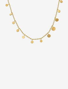 Sheen Necklace Adj. 40-48 cm - kettingen met hanger - gold plated