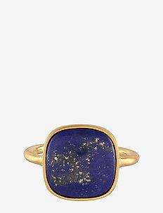Lapis Lazuli Ring Adj. - GOLD PLATED