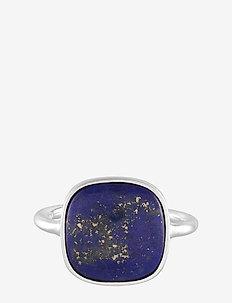 Lapis Lazuli Ring Adj. - SILVER