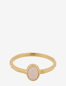 Shine Rose Ring - Quartz - rings - gold plated