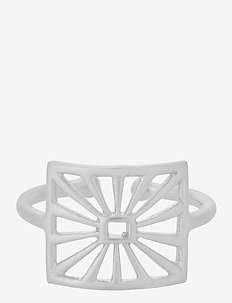 Sunrise Ring Adj - bagues - silver
