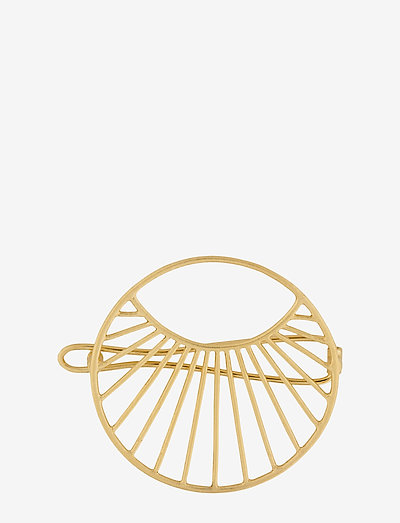Large Daylight Hair Clip 36mm - haar accessoires - gold plated