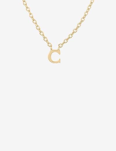 Note Necklace 41 cm Pendant 4 mm - kettingen met hanger - gold plated