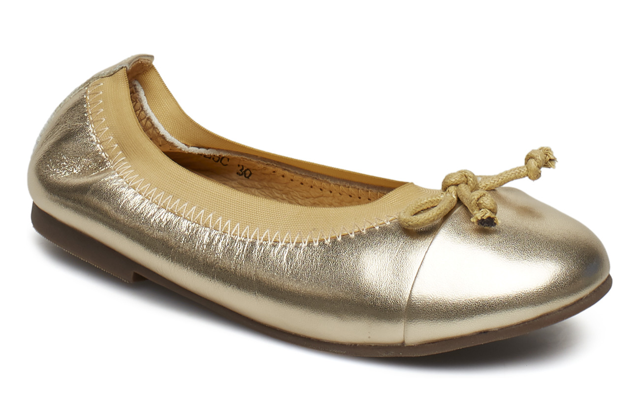 Petit by Sofie Schnoor Leather ballerina - CHAMPAGNE