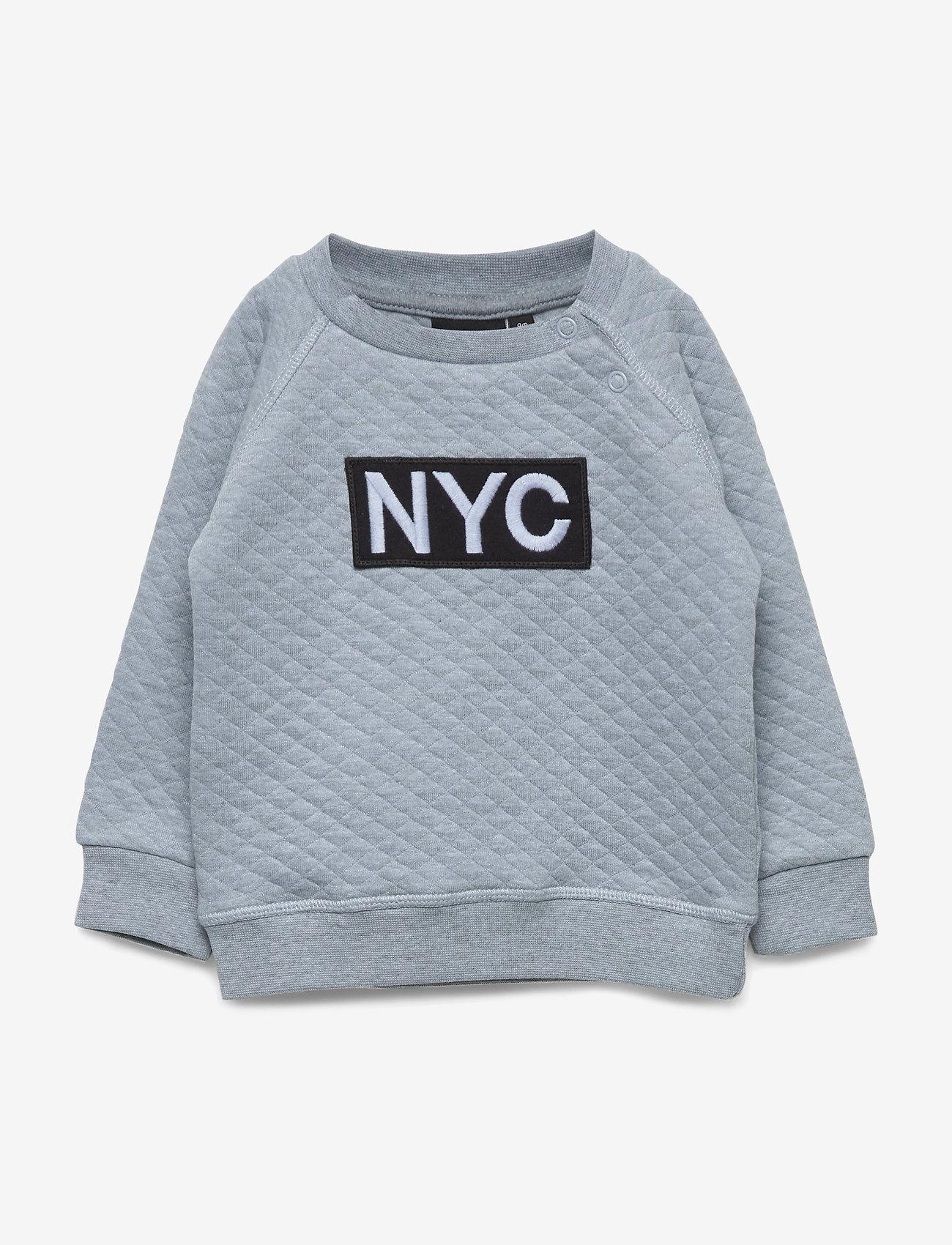 Petit by Sofie Schnoor - Sweat NYC - sweatshirts - light blue melange - 0