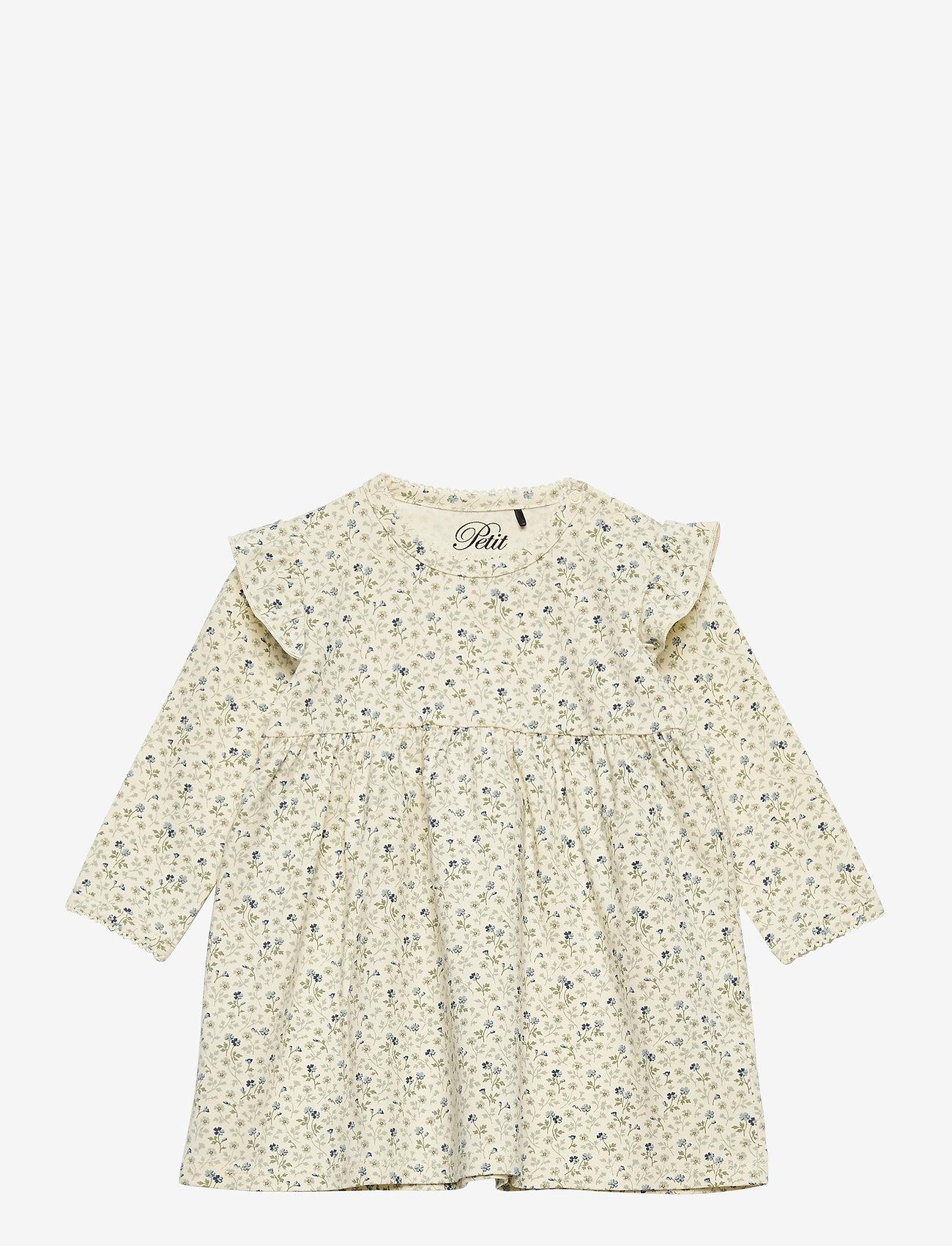 Petit by Sofie Schnoor - Dress - kleider - aop cream flower - 0