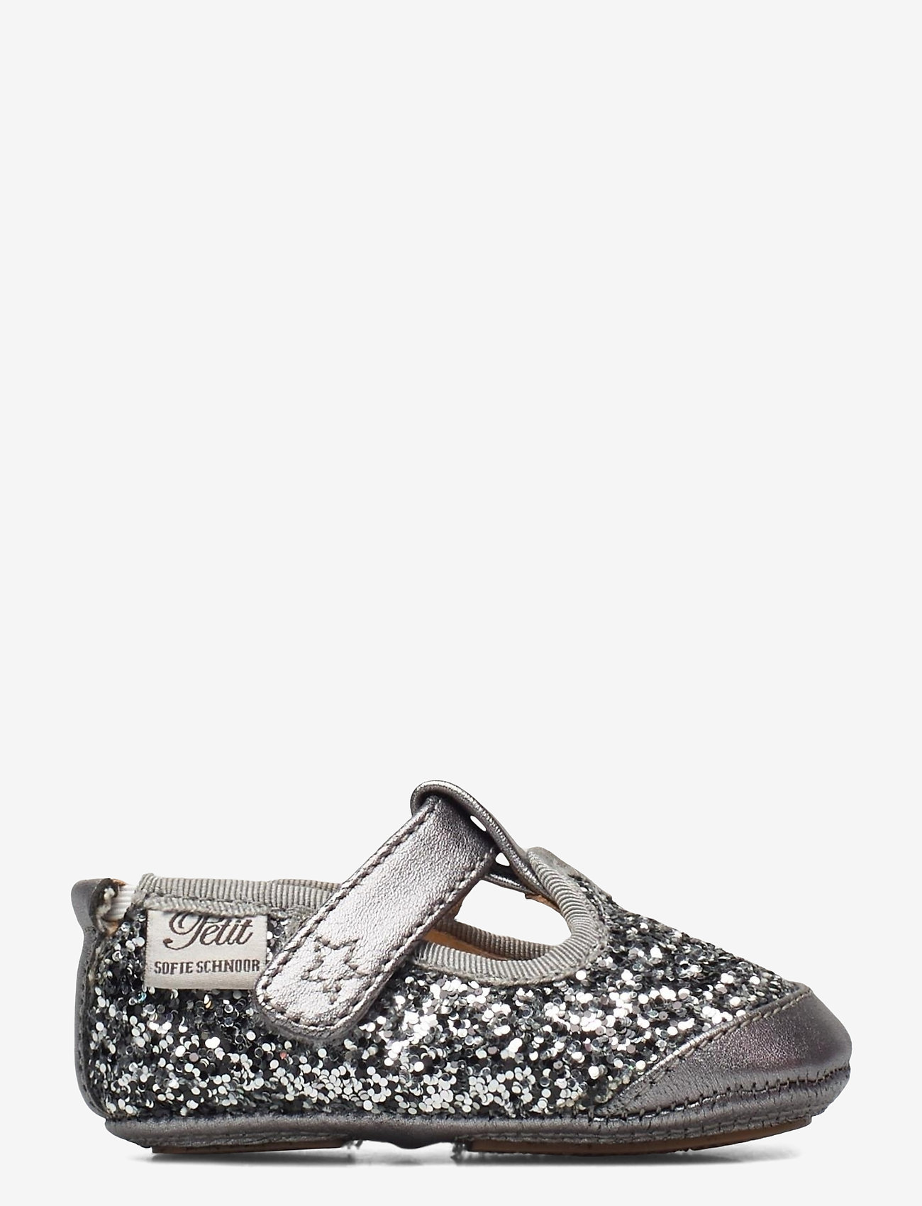 Petit by Sofie Schnoor - Baby glitter shoe 1 - ballerinaer og slip-ons - grey glitter - 1