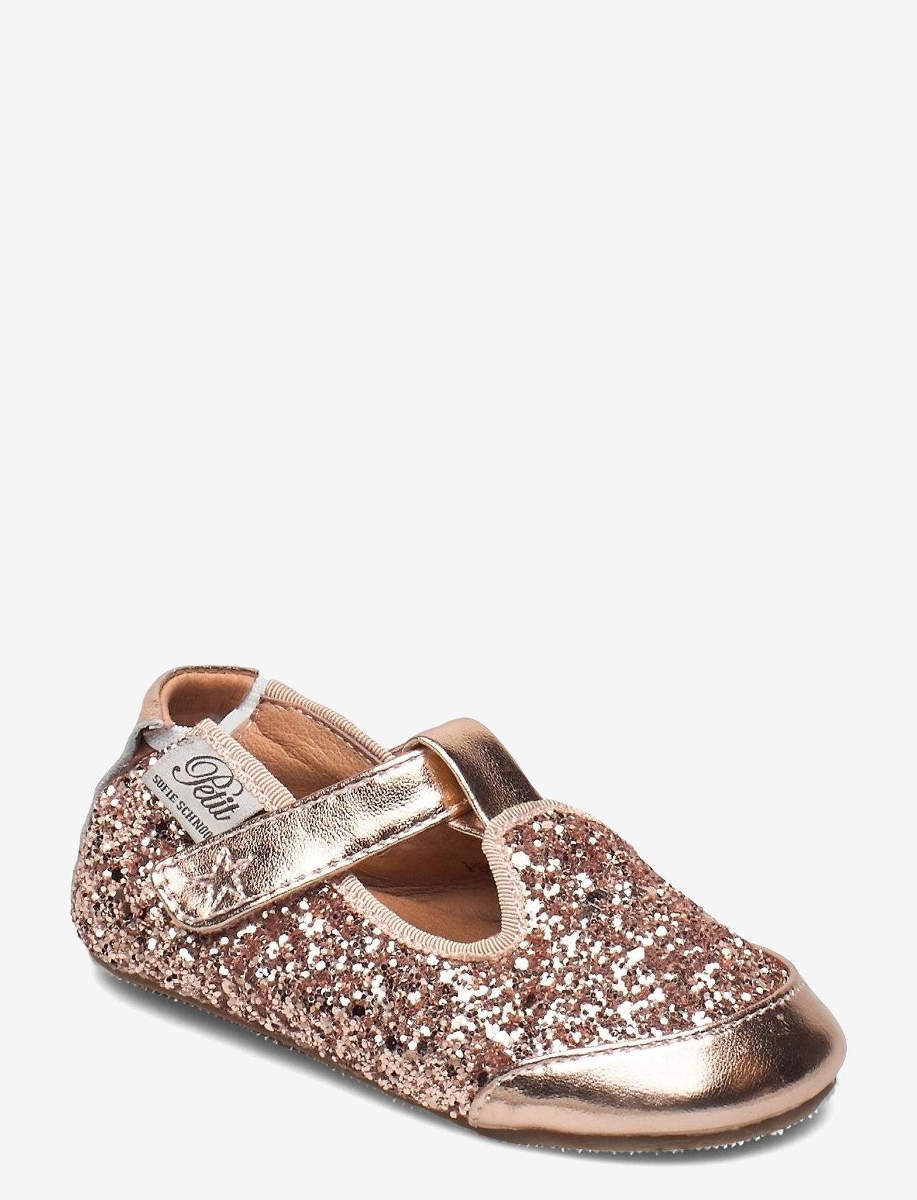 Petit by Sofie Schnoor - Baby glitter shoe 1 - ballerinaer og slip-ons - peach - 0