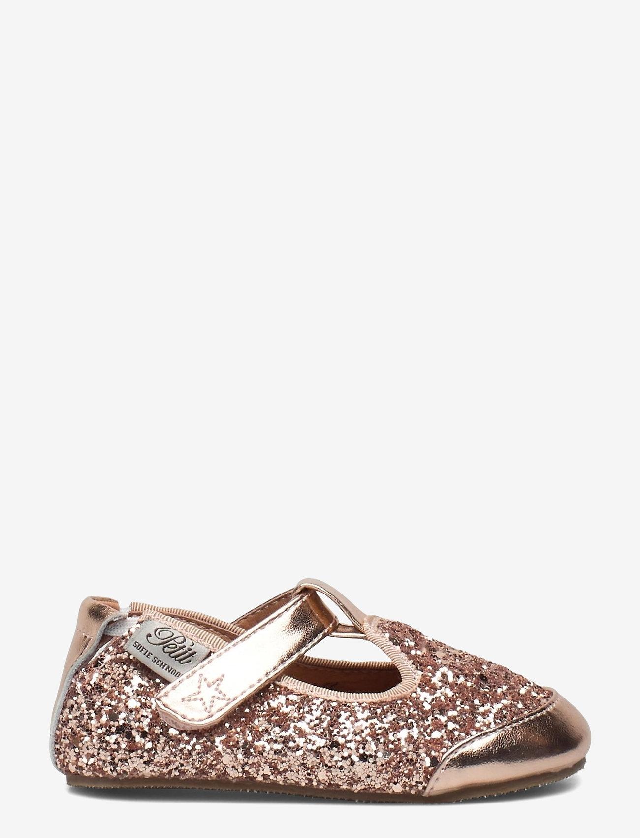 Petit by Sofie Schnoor - Baby glitter shoe 1 - ballerinaer og slip-ons - peach - 1