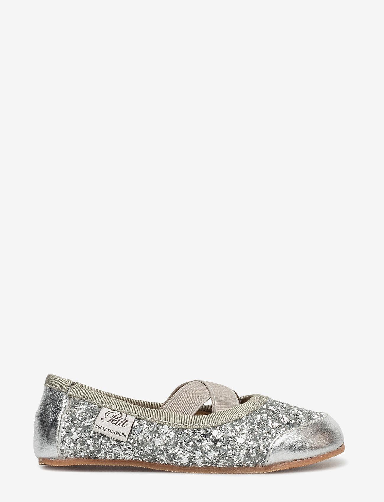 Petit by Sofie Schnoor - Indoors shoe - glitter - hjemmesko - silver - 1