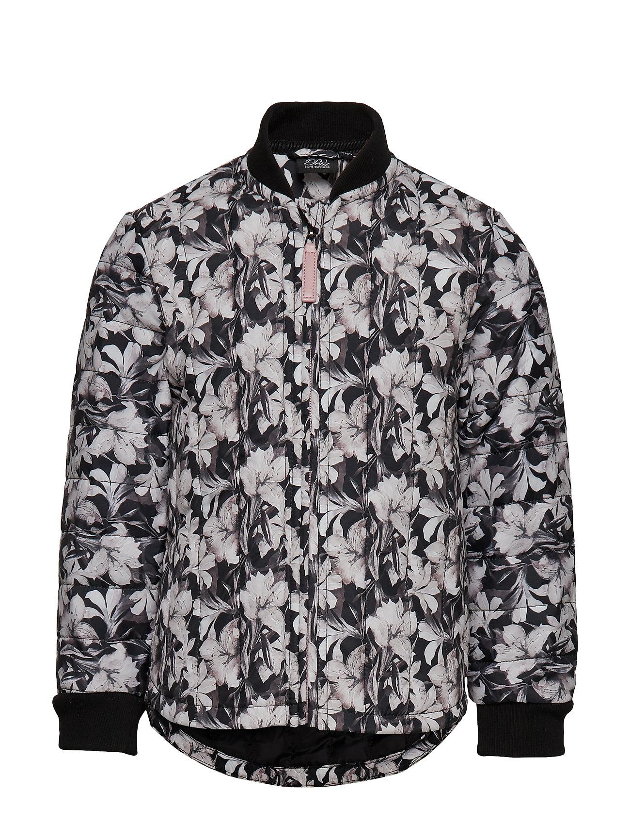 Petit by Sofie Schnoor Thermal jacket - BLK FLOWER