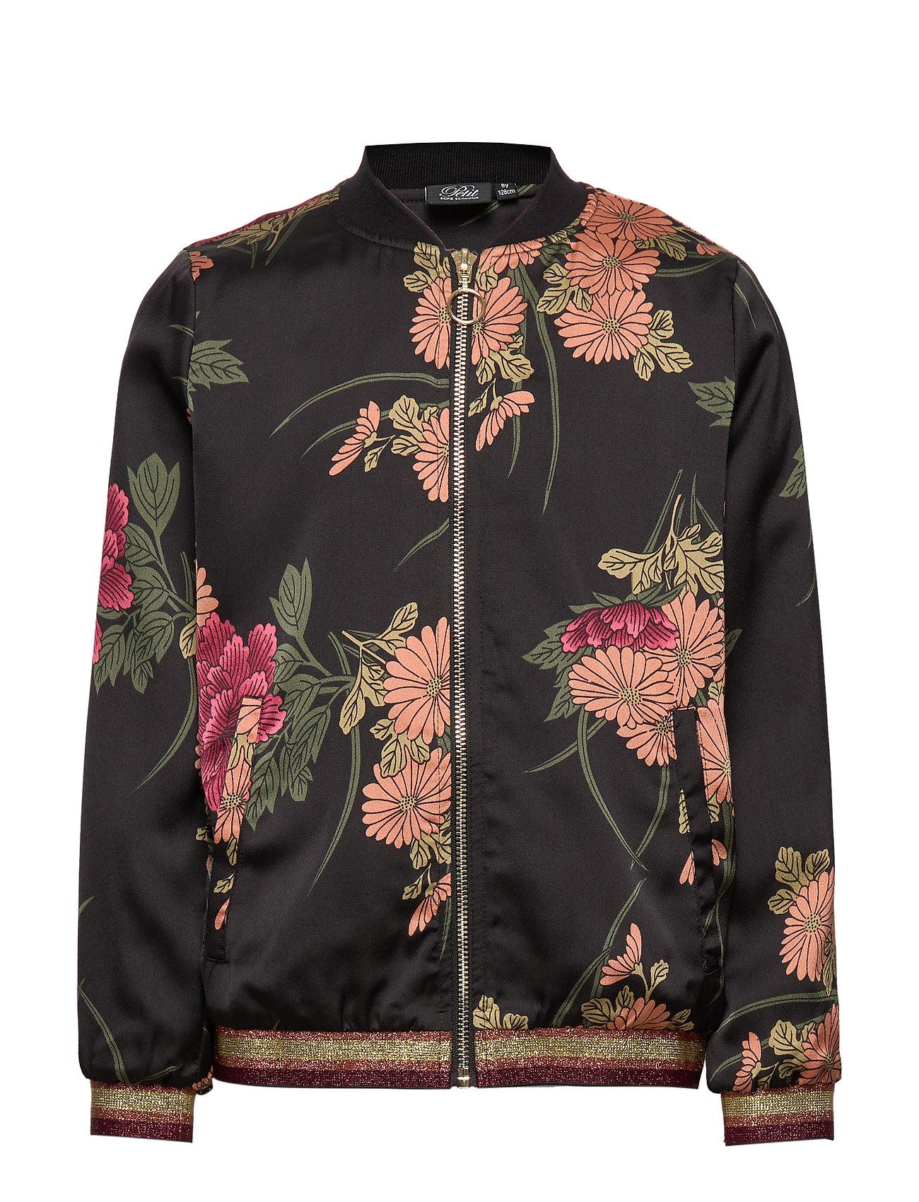 Petit by Sofie Schnoor Bomber jacket - AOP FLOW BLK