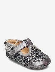 Petit by Sofie Schnoor - Baby glitter shoe 1 - ballerinaer og slip-ons - grey glitter - 0