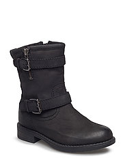 Boot w. buckles - BLACK