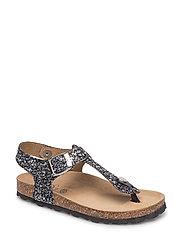 Sandal glitter - BLACK MIX