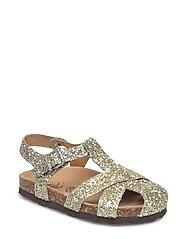 Sandal glitter - WHITE GOLD