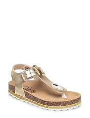 lurex sole sandal - GOLD