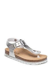 lurex sole sandal - SILVER
