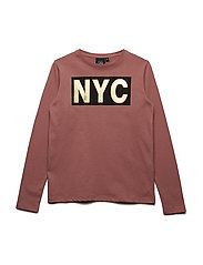 T-shirt long sleeve NYC - DUSTY ROSE