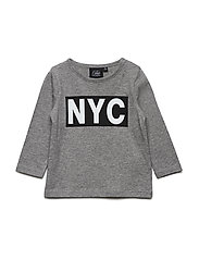 T-shirt long sleeve NYC - GREY MELANGE