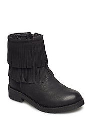 Boot w. fringes - BLACK