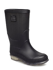 Boot rubber w. lining - BLACK