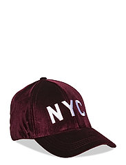 Cap velour - DARK RED