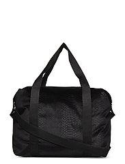 Bag velvet croko - BLACK
