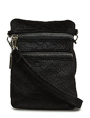 Bag cross velvet - BLACK