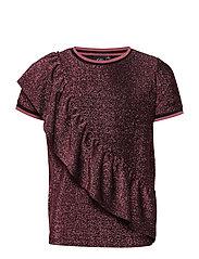 Shirt - PINK BLACK GLITTER