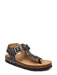 Sandal glitter - BLK SILVER