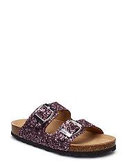 Sandal, glitter 2 straps - PURPLE