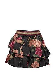 Skirt - AOP FLOW BLK