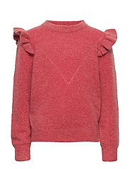 Knit blouse - EARTH RED
