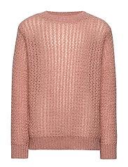 Knit Blouse - LIGHT ROSE