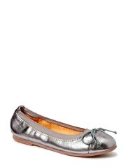 Leather ballerina - ANTIC SILVER