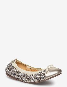 glitter ballerina - sko - mixed gold and champagne