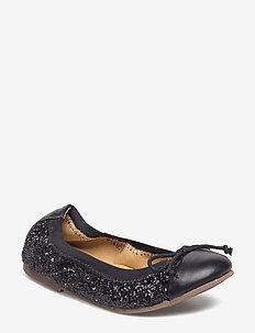 glitter ballerina - baleriny - black